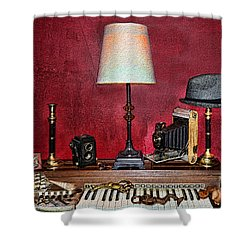 A Young Man's Treasures Shower Curtain