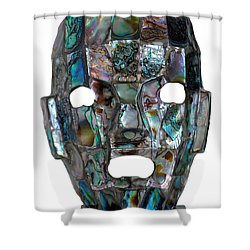 Shower Curtain featuring the photograph Abalone Mayan Mask by Shawn O'Brien