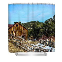 Abandoned Barn Shower Curtain by Shannon Harrington