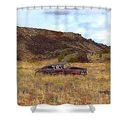 Abandoned Car Shower Curtain by Steve McKinzie