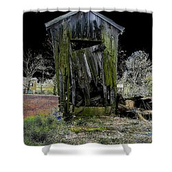 Abandoned Shower Curtain by Cindy Roesinger