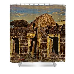 Shower Curtain featuring the digital art Abandoned Farmhouse by Blair Stuart