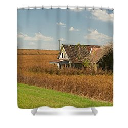Abandoned Farmhouse In Field 1 Shower Curtain