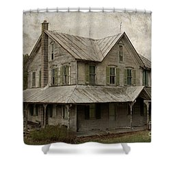Abandoned Homestead Shower Curtain by John Stephens