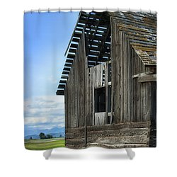 Abandoned Montana Barn Shower Curtain by Sandra Bronstein