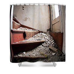 Abandoned Stairs Shower Curtain by Cale Best