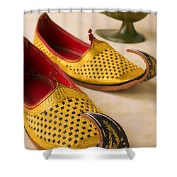 Abarian Shoes Shower Curtain by Garry Gay