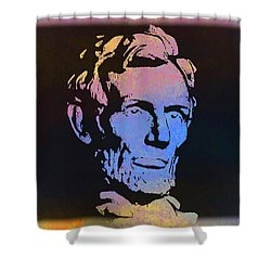 Abe Shower Curtain by Bill Cannon