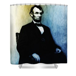 Abe Lincoln Seated Shower Curtain by Bill Cannon