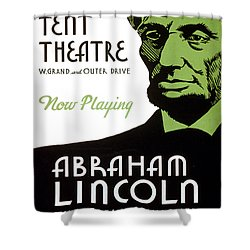 Abe Lincoln Wpa Poster Shower Curtain by Paul Van Scott