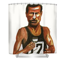 Abebe Bikila Shower Curtain