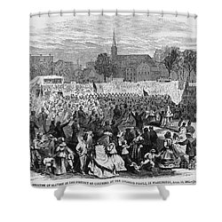 Abolition Of Slavery Shower Curtain by Photo Researchers