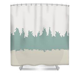 Shower Curtain featuring the digital art Above And Below by Jeff Iverson