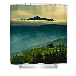 Above Clouds Shower Curtain by Syed Aqueel