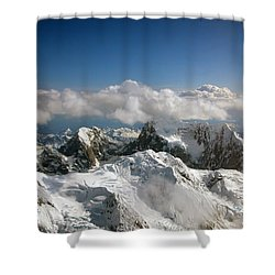 Above Mckinley Shower Curtain by Kay Lovingood