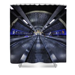 Above The Below Shower Curtain by Evelina Kremsdorf