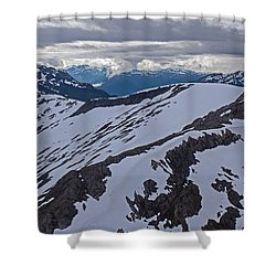 Above The Ridge Shower Curtain by Mike Reid