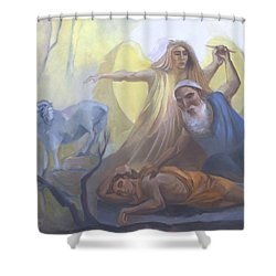 Abraham And Issac Test Of Abraham Shower Curtain