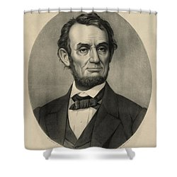 Shower Curtain featuring the photograph Abraham Lincoln Portrait by International  Images