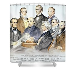 Abraham Lincolns Cabinet Shower Curtain by Granger