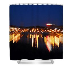 Abstract - City Lights Shower Curtain by Sue Stefanowicz