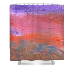 Abstract - Guash - Lovely Meadows 2 Of 2 Shower Curtain by Mike Savad