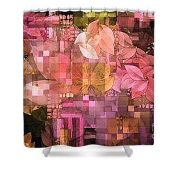 Abstract .. Trellis Shower Curtain by Elaine Manley