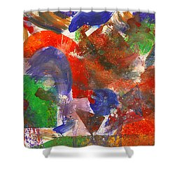 Abstract - Acrylic - Synthesis Shower Curtain by Mike Savad