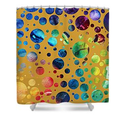 Abstract Art Digital Pixelated Painting Image Of Beauty Of Color By Madart Shower Curtain by Megan Duncanson