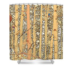 Abstract Aspens Shower Curtain