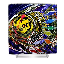 Abstract Busy Bee Fish Shower Curtain