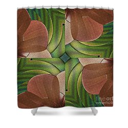 Abstract Curves Shower Curtain by Deborah Benoit