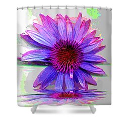 Shower Curtain featuring the photograph Abstract Daisy by Carolyn Repka