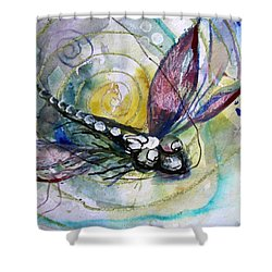 Abstract Dragonfly 11 Shower Curtain by J Vincent Scarpace