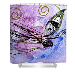 Abstract Dragonfly 6 Shower Curtain