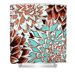 Abstract Flower 17 Shower Curtain by Sumit Mehndiratta