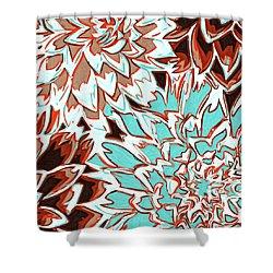 Abstract Flower 17 Shower Curtain by Sumit Mehndiratta