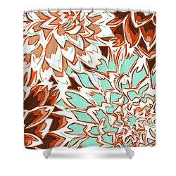 Abstract Flowers 12 Shower Curtain by Sumit Mehndiratta