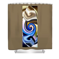 Abstract Fusion 114 Shower Curtain by Will Borden
