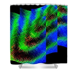 Abstract Fusion 130 Shower Curtain by Will Borden
