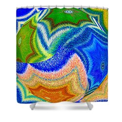 Abstract Fusion 155 Shower Curtain by Will Borden