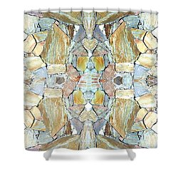 Abstract Fusion 67 Shower Curtain by Will Borden