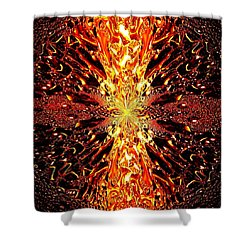 Abstract Fusion 73 Shower Curtain by Will Borden