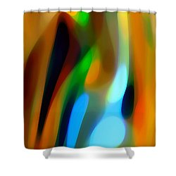 Abstract Garden Light Shower Curtain by Amy Vangsgard