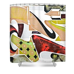 Shower Curtain featuring the painting Abstract Graffiti Art Wall by Yurix Sardinelly