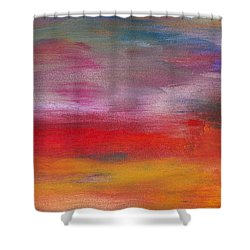 Abstract - Guash And Acrylic - Pleasant Dreams Shower Curtain by Mike Savad