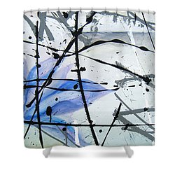 Shower Curtain featuring the painting Abstract Impressionist by Chriss Pagani