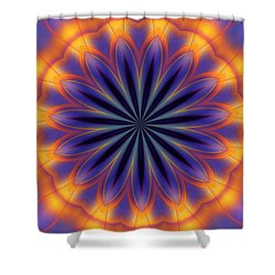 Abstract Kaleidoscope Shower Curtain by David Lane