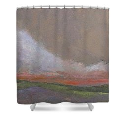 Abstract Landscape - Scarlet Light Shower Curtain