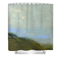 Abstract Landscape - Green Hillside Shower Curtain